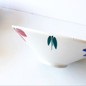Furio JewFlora Italian Blue and Pink Fruit Bowl